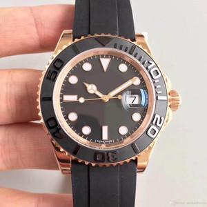 Reloj para hombre 18 uC oro rosa carcasa 116655 serie 40 MM anillo de cerámica zafiro cristal movimiento mecánico automático correa de caucho