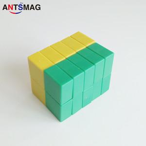 Paquet de 6 aimants en néodyme N52 revêtus de plastique super fort, 15x15X7.5MM, aimants permanents