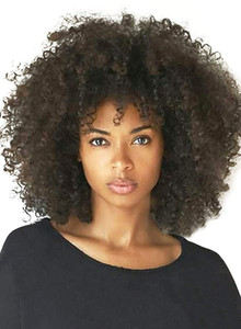 Kinky Curly Lace Front Human Hair Wigs For Women Natural Black 250% Density Brazilian Afro bob Lace Front Wig 10-22inch