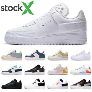 2020 nike air force 1 af1 shadow type N354 supreme Hommes Femmes des Chaussures de Shadow Pale Ivory Summit Blanc Spruce Aura Mystic Navy Hommes Formateur Mode Sports Sneakers