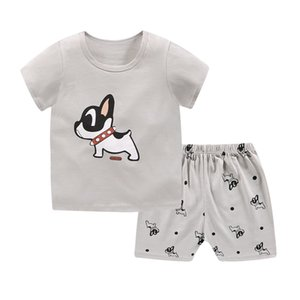 new fashion baby clothes two-piece snoopy baby cotton round neck half-sleeve outwer