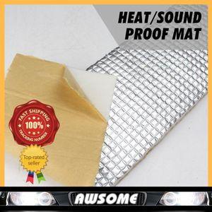 3pieces 1sets Beyaz Araba Oto Kamyon Ses Deadener Anti-Noise Shield Folyo Yalıtım Yangın Geciktirici Çevre ALÜMİNYUM PAMUK
