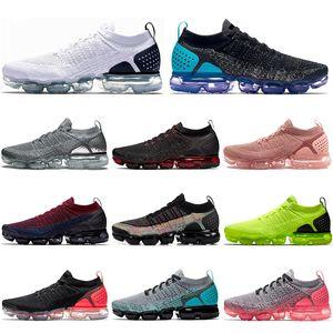 Nike Air Vapormax Flyknit 2.0 통기성이 트레이너 스포츠 운동화 크기 36-45 망 야외 뜨거운 판매 남여 밤 퍼플 좋은 품질 VOLT 녹 핑크 실행 신발