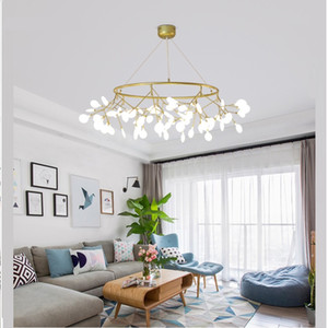 LED modernos luciérnaga ronda lámpara colgante rama de un árbol elegante luz de la lámpara decorativa chandelies círculo colgando colgante Led