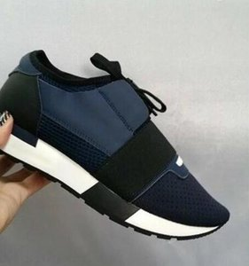 Moda corrispondenza scarpe da ginnastica superiore Designer Low Top donne scarpe casual Kanye West Style Race Runner mesh traspirante Flats Shoes SIZE 34-46
