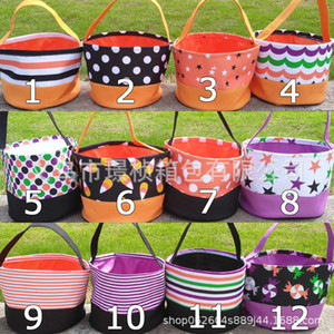 Pink sugao designer handbag women hot sales bucket bag halloween print bucket bag halloween basket canvas candy basket factory wholesales