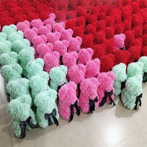 25CM الصابون رغوة الورود الدب الدب Teddi روز زهرة الاصطناعي للديكور المرأة هدية عيد الحب عيد الميلاد القطيفة حزب الدب WX9-1399