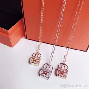 Explosion H letter bag full of diamond designer jewelry luxury woman wild fashion designer necklace