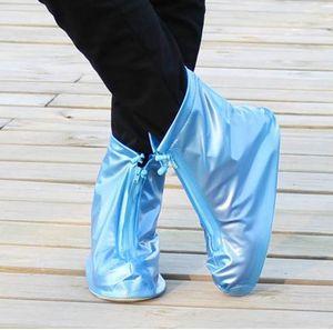 Nuovi riutilizzabile unisex Protector scarpe impermeabili avvio copertura antipioggia Copriscarpe copertura del pattino Alto-Top Anti-Slip