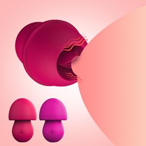 Mamelon Vibrateur femmes Oral Clitoris Mamelon langue Sex stimulateur Lécher vagin du sein agrandisseur Vibrateur 12 Modes USB Sex Shop