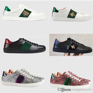 Freizeitschuhe Mode Leder Luxus Designer Weiße Schuhe Authentisches Rindsleder Geschnallt Männliche Sportschuhe Trainertanzen Flacher Frauenschuh