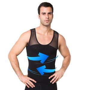SHUJIN 2019 uomini che dimagriscono Shaper Vest uomini cintura stretta Body Shaper palestra Solid Quick Dry Vest vita Corsetti di formazione Sporing Vests