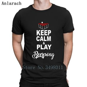 Keep Calm Play Beerpong Party T Shirt Printed Tee Shirt O-Neck Cool Famous Funny Spring Autumn Trend nederlands tshirt