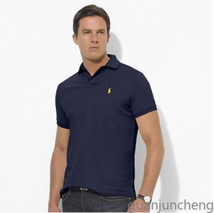 Polo Ralph Lauren Alta Polo Qualidade shirt Homens Sólidos Casual Cotton Shorts Verão Polo Mens Polo camisetas camisa do golfe Poloshirt GJ8821