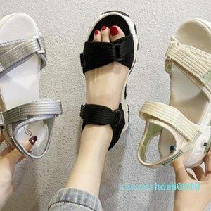 Лето 2020 новая тенденция моды идет со всем - танкетке, танкетке, сандалии, женщин среднего размера обуви c09 L16