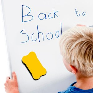 1 Pc desenhos animados óssea Blackboard Eraser alta qualidade Magnetic Board Branco Borrachas Escola Escritório Whiteboard Marcador Cleaner Ferramenta # g3