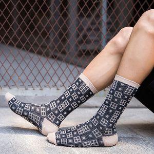 20190414 Мужские носки с двумя стволами, британское ретро, повседневные хлопчатобумажные носки, поглощающие пот
