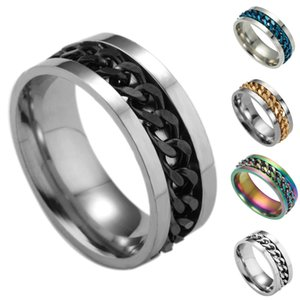 Valentine'S Day Gift- Mixed Order Dropshipping Stainless Steel Rings Mens Ring Chain And Tyre Design Rings Jewelries Factory Supplier 016 #38