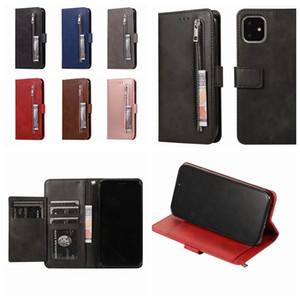 지갑 가죽 케이스 아이폰 11 XI XIR R MAX 새로운 2019 플립 다기능 지퍼 동전 돈 ID 카드 슬롯 상자 카드 포켓 전화 홀더 커버