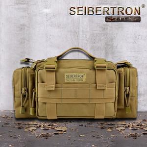 Ответ Seibertron Tactical Полезность плеча мешок руки Multipurpo себе талии сумка водонепроницаемый мешок коричневый цвет и черный T190922