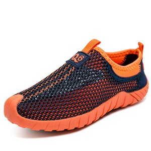 2018 Summer New Style Children-Style Athletic Shoes BOY'S Punched Sheet Surface Casual Shoes Anti-slip Big Boy CHILDREN'S Shoes