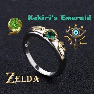 Zelda Yüzük Sheikah Göz Slate Kokiris Zümrüt Ayar 925 Gümüş sevgililer Günü Hediye Nişan Yüzüğü J190611