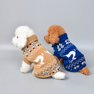 NEW Christmas Cute Elk Dog Clothing Knitted Sweater Warm Breathable Dog Clothes Thick Winter Sweater for Dogs Deer Sweaters2