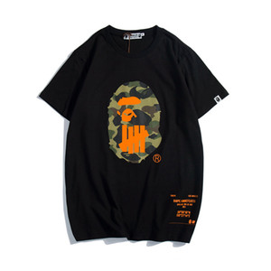 Les chemises des hommes concepteur t invaincus hors d'été Apes de bain t-shirt blanc en coton imprimé singe chemises hommes tees