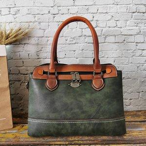 Imyok funcional multi mão sacos verdes bolsa de couro feminino bolsa de ombro crossbody tote macio luxo senhoras bolso vintage mulheres lcgsp