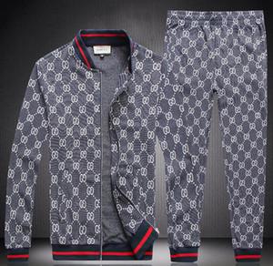 Novo designer 2020 agasalho Set Moda Correndo mens treino Carta Magro roupa Pista Kit Luxo Terno de manga longa Sports