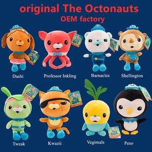 La Octonautes originale Poupée en peluche 8Inch Cartoon peluche Poupée Barnacles Kwazii Peso Shellington Dashi Professeur Inkling Tweak Doll lol Toys
