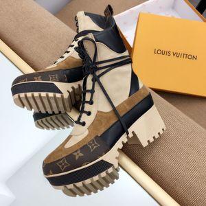 lüks ayakkabı kadınlar kısa botlar yeni kış 2019 klasik martin çizmeler yüksek topuklu bağcıklı tıknaz topuk bayan botları 02