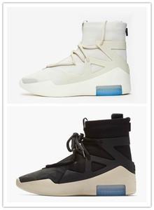 2018 El más nuevo lanzamiento Fear of God 1 Light Bone Black Sail Zapatos de baloncesto para hombre Venta caliente Zapatillas deportivas Zoom con caja AR4237-002