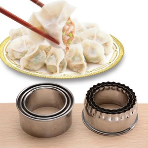3pcs set Stainless Steel Multifunction Dumpling Maker Form Wrapper Presser Molds Cooking Pastry Cutter Kitchen Tools