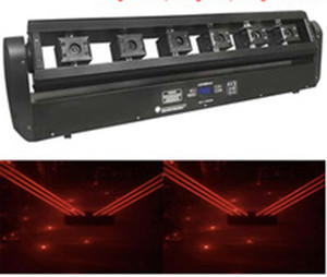 6 Head Laser Light LED Luci a testa mobile Red Swing Laser Arrow Stage DMX512 Disco DJ Christmas Effect LLFA