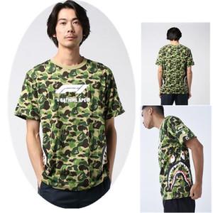 20ss scimmiotta mens lusso marea t di alta qualità della camicia delle donne della maglietta di alleanza con etichetta hip hop alfabeto e2