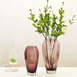 Tavolo di vetro creativa artigianale di vetro Vaso moderno Semplicità decorazione del vaso Home Living regalo della decorazione Camera