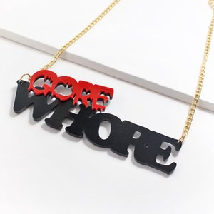 New Fashion Lovely Choker Necklaces For Women Girls Acrylic Long Punk HipHop Charm Female Link Chain Necklace Jewelry