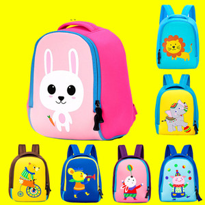 2019 Design 3D Animal Bambini Kindergarten School New Girl Neoprene Boys Toddler Zaini Bambini Brand Backpack Bags Borsa del fumetto Edfxe