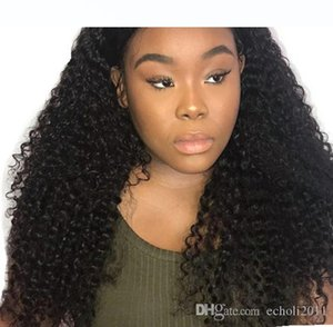 H Kinky Curly Wig 360 Lace Frontal Wigs Pre Plucked With Baby Hair Brazilian Lace Front Human Hair Wigs 180 %Diva Remy Hair