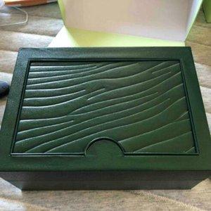 caixa de relógio de luxo Verde Brand Watch Box originais com os cartões e papéis Certificados Bolsas caixa de 116610 116660 116710 Relógios