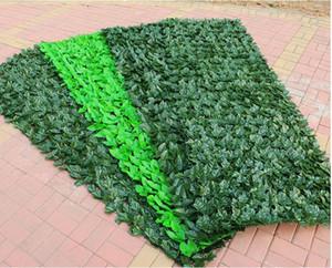 2019 Plastic 3M / 5M Artificial Plantas Cerca Decor Jardim Quintal para o fundo da parede da casa Paisagismo Verde Decor Artificial ramo da folha Net