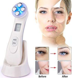 5in1 rf ems радио мезотерапия электропорация лица красота ручка радиочастота светодиодный фотон лицо кожи омоложение умоляние морщин