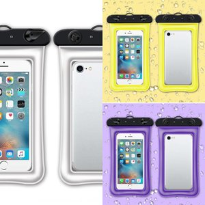 Children's floating air inflatable touch waterproof phone bag screen swimming transparent waterproof mobile phone bag mobile