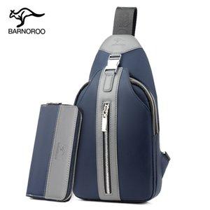 Tendencia bolsa de mensajero bolsa de pecho salvaje bolsas de moda Barnes canguro hombres de lujo de tela Oxford Wearable hombres ocasionales