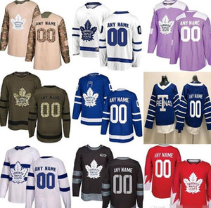20 personnalisés Hommes Femmes Enfants Toronto Maple Matthews Tavares Mitchell Marner Frederik Andersen Patrick Marleau Nazem Kadri Leafs Hockey Jersey