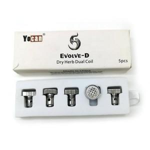 Yocan originale Evolve-D Dual Bobines E Remplacement cigarette bobine pour Evolve D Kits Dry Herb Vaporizer de pack