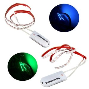 Bicycle Decorative Taillight Green Blue Cycling Lights Strip Light 70 LED Wheel Safety Warning Light Bike Rear Lamp