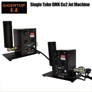 무료 배송 2 개 / 많은 단일 튜브 CO2 기계 제트 효과 무대 조명 이산화탄소 촬영 효과 DMX512 열 제트 장비 110V / 220V TP-T27