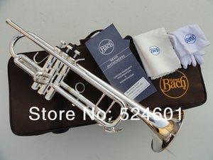 Nuevo Bach LT180S-37 Instrumentos de rendimiento profesional Trompeta bb plateada Superficie de alta calidad Instrumentos de latón Bb trompeta